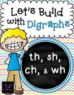 Let's Build With Digraphs (th, sh, ch, & wh)-This digraph resource pack includes three engaging, hands-on activities to help your students practice spelling and building words with beginning and ending digraphs th, sh, ch, and wh. $