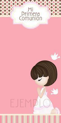 Moms-Angels: Tarjetas Primera Comunión para niña