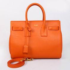 c21131dece73 2014 Yves Saint Laurent beauty Classic Sac De Jour Bag in Original Leather  7102 Orange