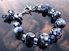 Handmade Lampwork Glass Bead Bracelet Handcrafted Wearable Art Jewelry