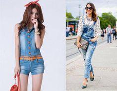 Las bragas, largas o cortas, en jeans siguen dando la hora en moda casual.