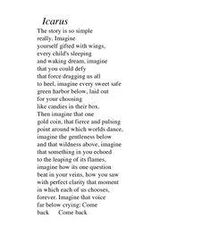 Icarus by Rebecca Baggett