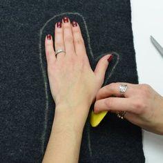 Fabriquez vos mitaines en feutrine et laine bouillie - Marie Claire Idées