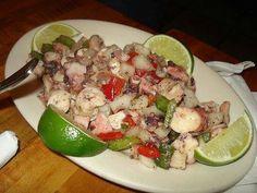 Octopus salad Puerto Rico style