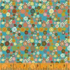 More from Nod to Mod, 40784-2, Windham Fabrics, available July, 2015.