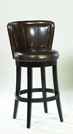 Armen Living Leather Swivel Barstool Brown Leather 26Inch * Check this awesome product by going to the link at the image.