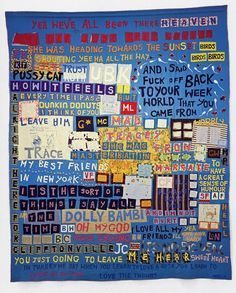 Cave to Canvas, Tracey Emin, Mad Tracey from Margate, 1997 Protest Kunst, Protest Art, Protest Signs, Art Textile, Textile Artists, Textiles, A Level Art, Feminist Art, Gcse Art