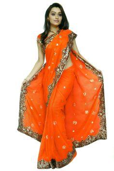 sari | Bridal Designer Heavy Sequin Wedding Saree Sari Dress | eBay