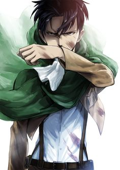 Levi Ackerman_Attack on Titan_Shingeki no kyojin Hanji Attack On Titan, Hanji And Levi, Levi And Erwin, Manga Anime, Dc Anime, Manga Art, Humanoid Creatures, Captain Levi, Kirara