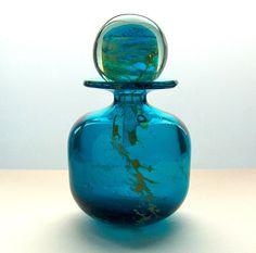 Mdina bottle vase and stopper.