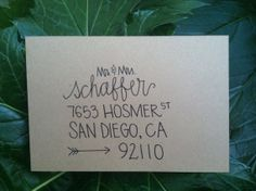Custom Wedding Envelope Invitation Calligraphy  by AshlynnAnderson