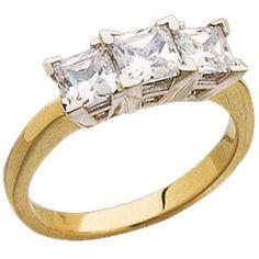 14kt Yellow Gold Podium Style Diamond Anniversary Ring