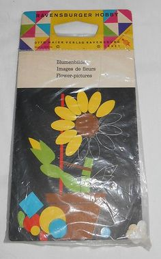 Vintage Ravensburger Hobby Kit Made in Germany Flower Pictures New | eBay