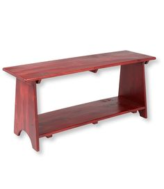 Rustic Wooden Mudroom Bench from L.L.Bean on shop.CatalogSpree.com, your personal digital mall.