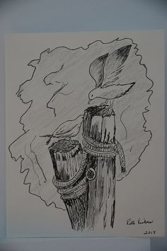 pen and ink sketching