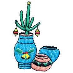 Christmas Cactus Embroidery Design | AnnTheGran