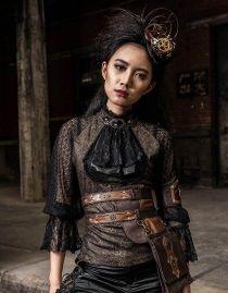 Haut steampunk femme à manches longues