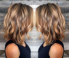 Summer hair color and style for sure!