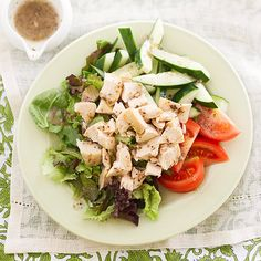 Our Greek Chicken Salad is quick and easy to make! Get the recipe here: http://www.bhg.com/recipe/chicken/greek-chicken-salad/?socsrc=bhgpin050312GreekChickenSalad