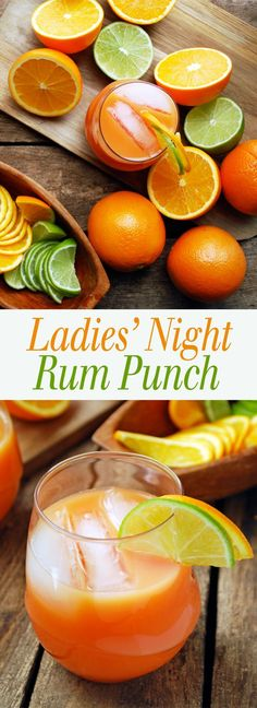 Ladies' Night Rum Punch - Get your girlfriends together and enjoy this simple fruity drink! Also includes a recipe for one if you want to relive the magic alone! Full recipe at theliveinkitchen.com @liveinkitchen