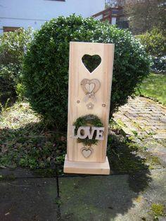 Hochzeitsdeko - ♥ XL Hochzeit Geschenk- oder Dekoidee Säule LOVE ♥ - ein Designerstück von Sternenglanz-Clemens bei DaWanda