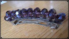 Silvia Jewellery of Style: Fermaglio capelli viola trasparente