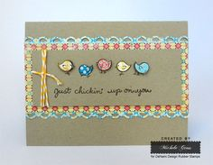 Tweety Bird Border card created by Michele Gross using DeNami Design Rubber Stamps