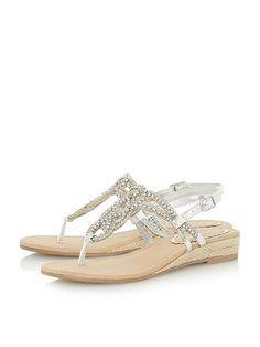 Dune Nixon embellished sandals