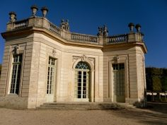 Marie-Antoinette's party pavilion. The small pavilion was her personal frat house, if you will, and was where she threw her famous soirees.
