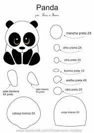 Resultado de imagen para capa para celular em feltro molde Felt Animal Patterns, Quiet Book Patterns, Stuffed Animal Patterns, Panda Craft, Animal Templates, Diy Y Manualidades, Panda Party, Felt Decorations, Felt Toys