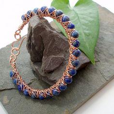 Kiss Kross Bracelet - Lapis Lazuli and copper