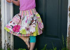The TipToe Skirt™ from Beneath the Rowan Tree #skirt #girl #handmade