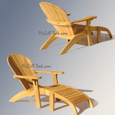 adirondack chairs | Teak Outdoor Chair – Adirondack Teak Chair with Ottoman Features