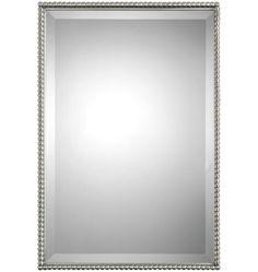 Z013177 POWDER Room, Mirror, Rejuvenation Size 21 X 36 Will Fit In Scheme  Brushed Nickel