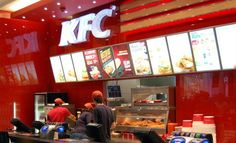 """KFC: A fast food restaurant chain which specializes in fried chicken and is headquartered in Louisville, Kentucky. It is the world's second largest restaurant chain overall after McDonald's, with over 18,000 outlets in 120 countries. KFC's primary product is pressure fried pieces of chicken made with the """"Original Recipe"""" seasoning mix. The company also sells chicken burgers, wraps and a variety of finger foods, including crispy chicken strips and hot wings."""