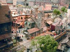 George Sellios—model railroad of an old busy town setting