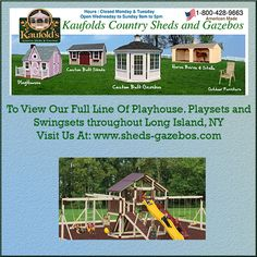 Lets Play, Long Island, Play Houses, American Made, Kids Playing, Gazebo, Shed, Country, Kiosk
