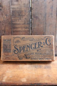 attic - 'Spencer & Co' VIntage Box -