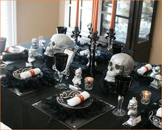 Gothic Glam Halloween Dinner Party - Awesome ideas!
