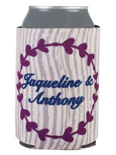 TWC-5109 - Full Color Collapsible Wedding Can Coolers #wedding