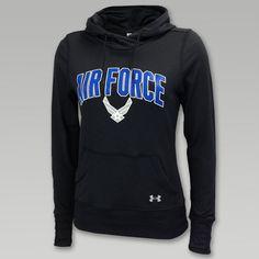 Under Armour Air Force Womens Logo Hood  | ArmedForcesGear.com