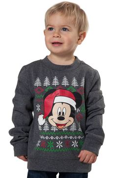 Toddler Mickey Mouse Christmas Sweatshirt