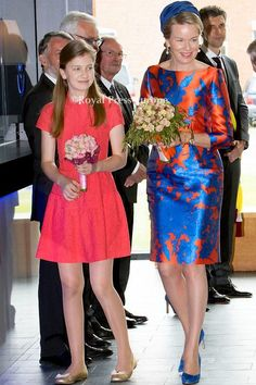 Belgian Queen Mathilde & Princess Elisabeth flowered by Coin Perdu, Tongeren