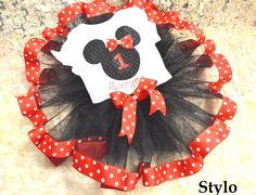 Minnie Mouse tutu order or follow us on Facebook ; www.facebook.com/... #minniemouse #birthday #redpolkadotribbontutu #styloboutique