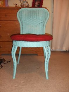 Spray painted wicker chair