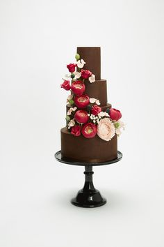 Chocolate Velvet with Peach Peonies