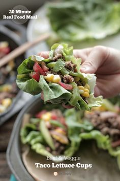 20 Minute Meal: Beef and Veggie Taco Lettuce Cups - Live Simply