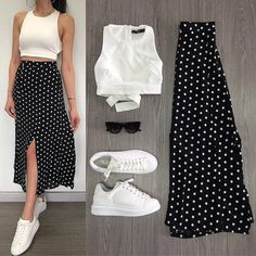 Trendy Outfits Sunday combination ❤ Which combination do you like best? You just call us . - you can find similar pins below. Summer Dress Outfits, Modest Outfits, Skirt Outfits, Chic Outfits, Spring Outfits, Trendy Outfits, Fashion Outfits, Womens Fashion, Skirt And Sneakers