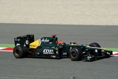 Heikki Kovalainen CATERHAM Renault CT01 during Formula 1 Day 2 Free practice at Spain's Circuit de Catalunya  Barcelona. Pic by antarc, via Flickr