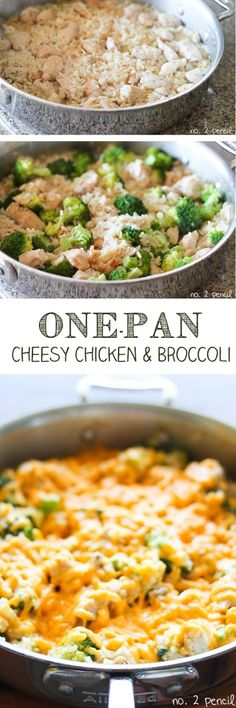 One-Pan Cheesy Chicken and Broccoli. Rice didn't get crisped. Still good. Just topped with a little cheese.